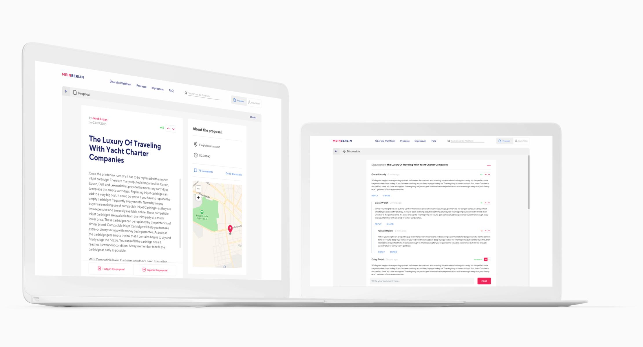 Adhocracy Software design by Manu Franco-UX Designer